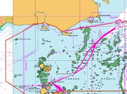 Torres Strait Depth Torres Strait Channels And