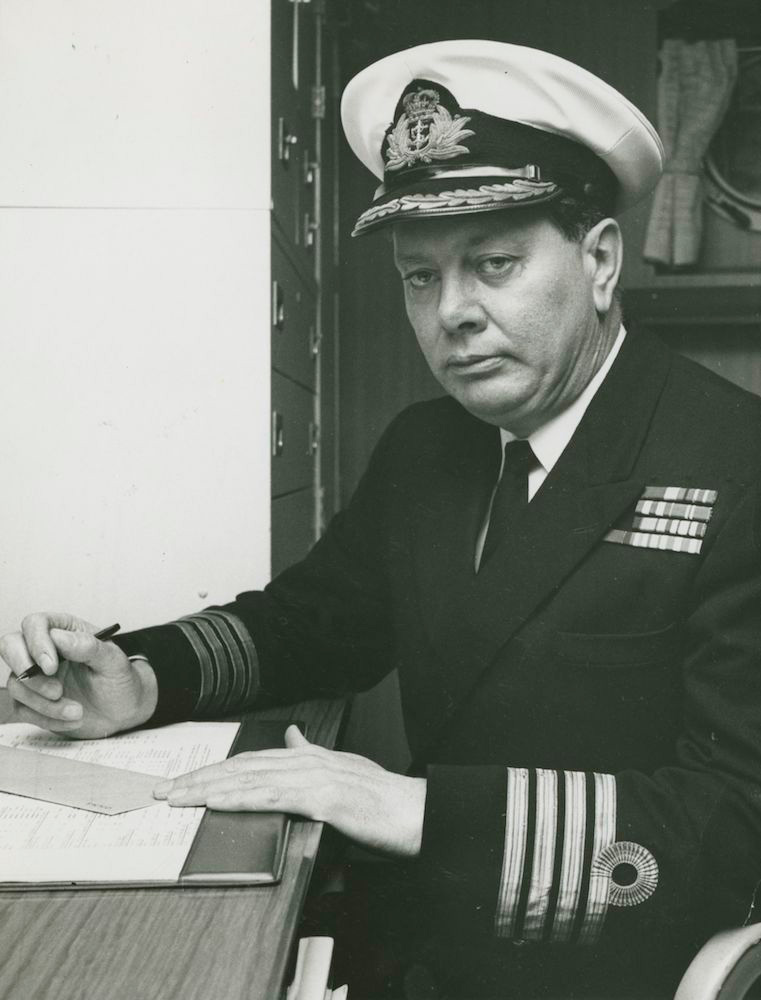 Captain I.M. Burnside, RAN assumed command of HMAS Stalwart on 13 January 1974