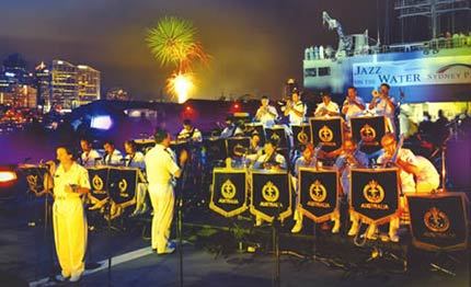 Navy Band during Jazz on the Water.