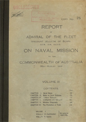 Report of Admiral Jellicoe Vol III