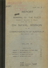 Report of Admiral Jellicoe Vol IV