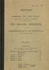 Report of Admiral Jellicoe Vol I
