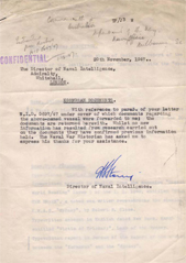Naval Intelligence Letter