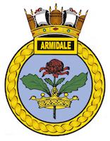 HMAS Armidale (I) badge.