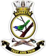 HMAS Barbette Badge