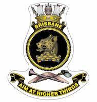 HMAS Brisbane ship badge