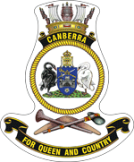 HMAS Canberra (III) ship's badge