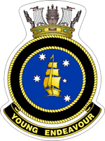 STS Young Endeavour ship's badge