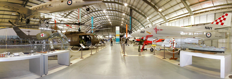 As well as the main aircraft exhibition gallery and supporting galleries...