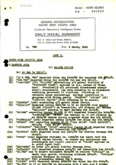 Naval Summary March 1944