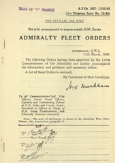Admiralty Fleet Orders 1943 - 1027-1155