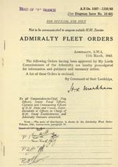 Admiralty Fleet Orders 1943 - 1027-1155