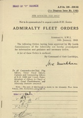 Admiralty Fleet Orders 1943 - 108-229