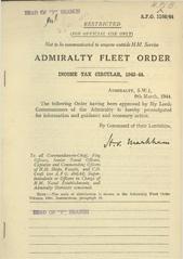 Admiralty Fleet Orders 1944 - 1160