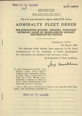 Admiralty Fleet Orders 1944 - 1161