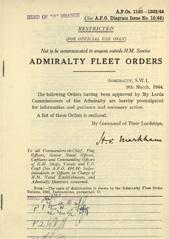 Admiralty Fleet Orders 1944 - 1162-1303