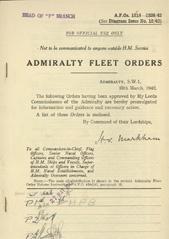 Admiralty Fleet Orders 1942 - 1218-1326