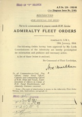 Admiralty Fleet Orders 1944 - 124-249