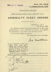 Admiralty Fleet Orders 1943 - 1282-1412