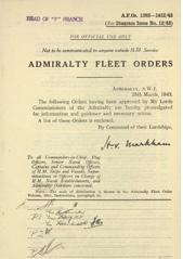 Admiralty Fleet Orders 1943 - 1282-1412