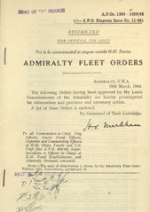 Admiralty Fleet Orders 1944 - 1304-1456