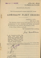 Admiralty Fleet Orders 1942 - 1327-1481
