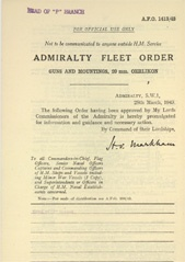 Admiralty Fleet Orders 1943 - 1413
