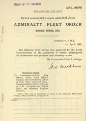Admiralty Fleet Orders 1943 - 1415