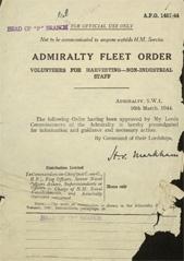Admiralty Fleet Orders 1944 - 1457