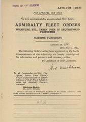 Admiralty Fleet Orders 1942 - 1482-1483