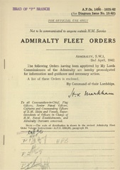 Admiralty Fleet Orders 1942 - 1486-1625