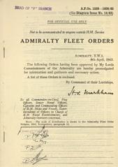 Admiralty Fleet Orders 1943 - 1528-1638
