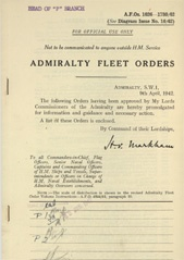 Admiralty Fleet Orders 1942 - 1626-1730