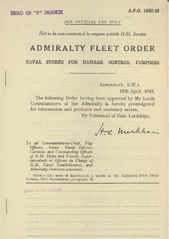Admiralty Fleet Orders 1943 - 1642