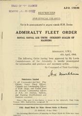Admiralty Fleet Orders 1944 - 1759