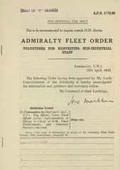 Admiralty Fleet Orders 1943 - 1774