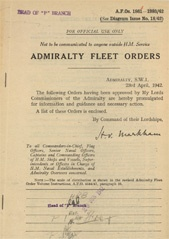 Admiralty Fleet Orders 1942 - 1861-1993