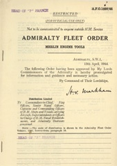 Admiralty Fleet Orders 1944 - 1899