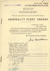 Admiralty Fleet Orders 1944 - 1900-2030