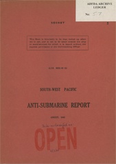 South-West Pacific Anti-Submarine Warfare Reports - August 1943