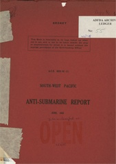 South-West Pacific Anti-Submarine Warfare Reports - June 1943
