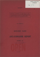 South-West Pacific Anti-Submarine Warfare Reports - September 1943