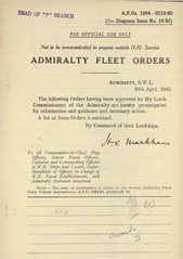 Admiralty Fleet Orders 1942 - 1994-2113