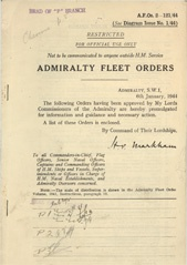 Admiralty Fleet Orders 1944 - 2-121