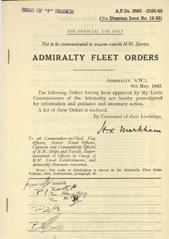 Admiralty Fleet Orders 1943 - 2003-2100