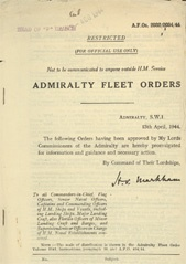 Admiralty Fleet Orders 1944 - 2032-2034