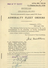 Admiralty Fleet Orders 1944 - 2035-2151