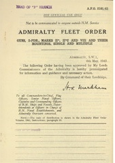 Admiralty Fleet Orders 1943 - 2101