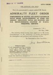 Admiralty Fleet Orders 1943 - 2102