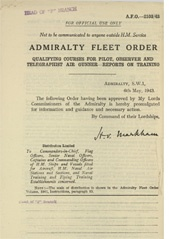 Admiralty Fleet Orders 1943 - 2103